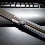 オルファ:OLFA ノンスリップH型(グレー) + 特専黒刃 特大H5枚入 HBB5K
